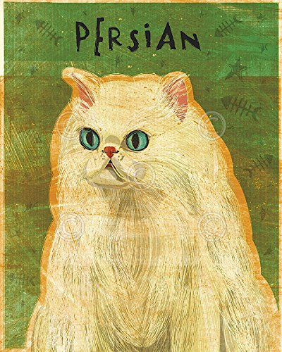 (Persian by John W. Golden Animal Cat Poster (Choose Size of Print))