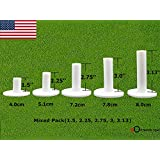 FINGER TEN Golf Rubber Tees Driving Range Value 5 Pack, Mixed Size or 5 Same Size for Practice Mat
