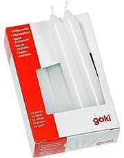 Goki 15051 - Dekoration - Geburtstagskerzen-Set für GK 106/108/55985/60975 Weiß