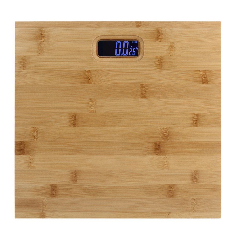 Sonmer Home Upscale Wooden Scales (11.8''×11.8''), Maximum Weight 400 Pounds