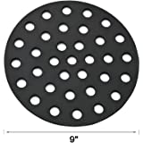 BBQration 9-inch Solid Cast Iron High Heat Charcoal Fire Grate for BGE Large, Fits Large or MiniMax Big Green Egg grills, Kamado Joe classic, Primo Grill or other ceramic kamado cooker 18""