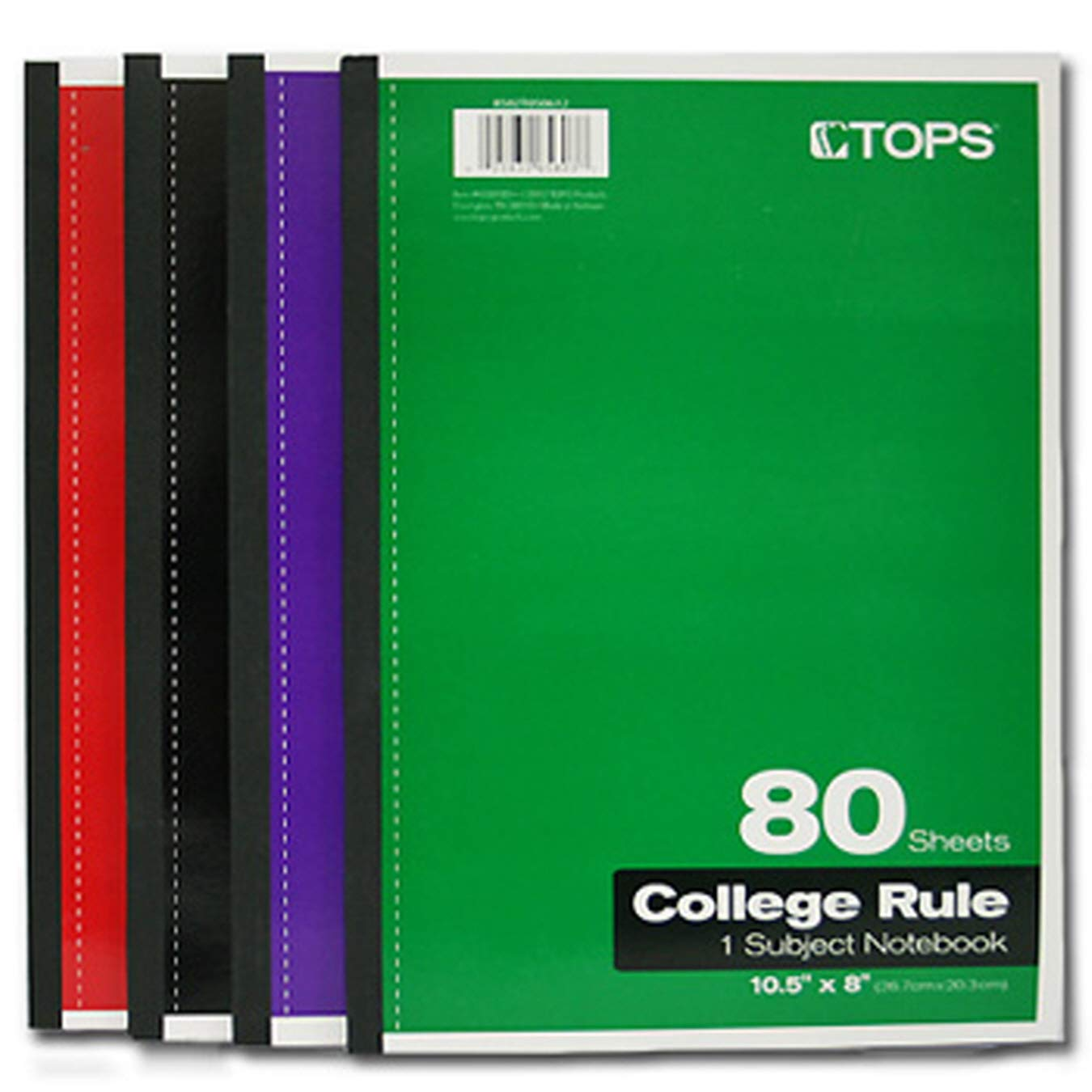 (Pack of 24, 1920 Sheets) Tops Notebook Wireless, College Ruled, 80 Sheets