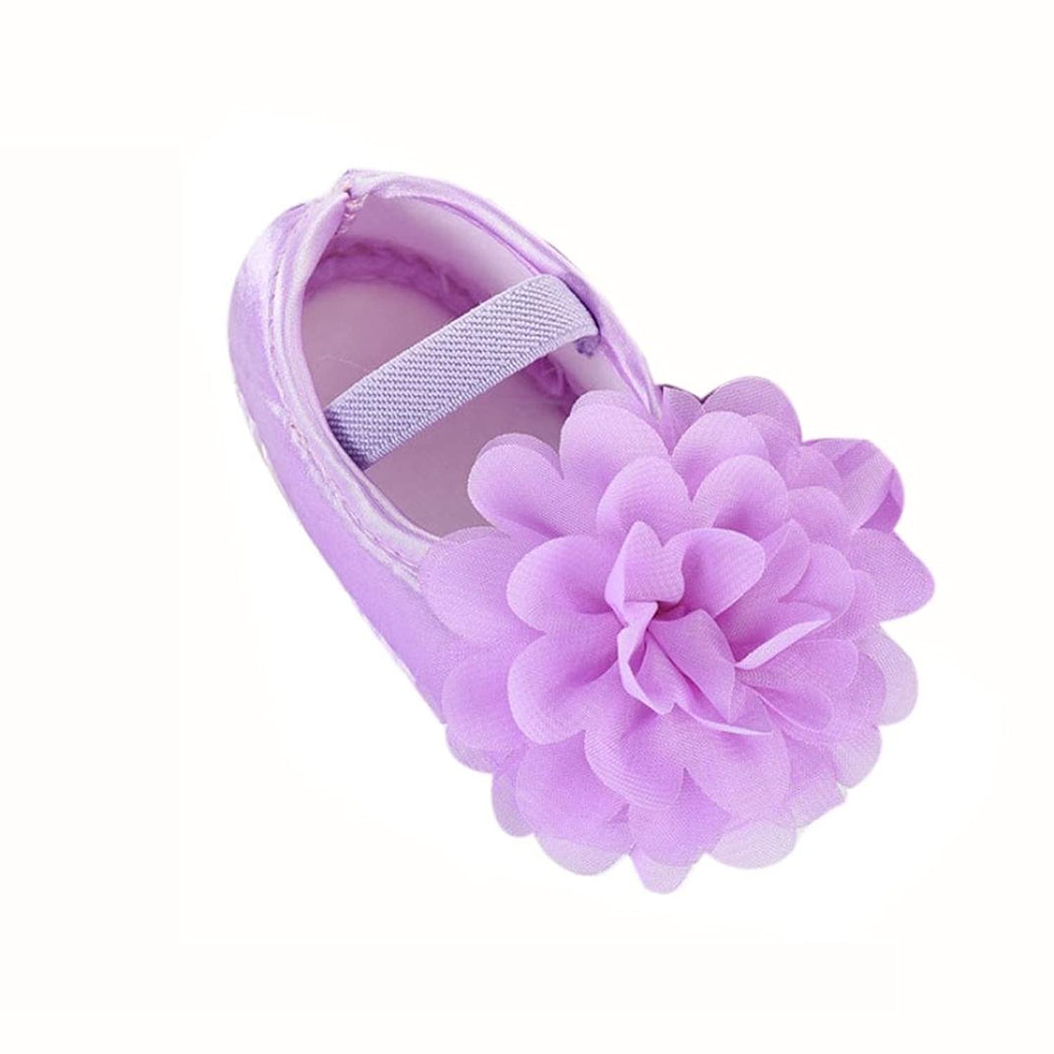 Boomboom Baby Sandals 2018 Toddler Girl Chiffon Flower Elastic Pomade Tokyo Night Lavender Red Band Walking Shoes 60