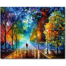 DIY Oil Painting Newsight Paintworks Paint By Number for Kids and Adults (Romantic Night)