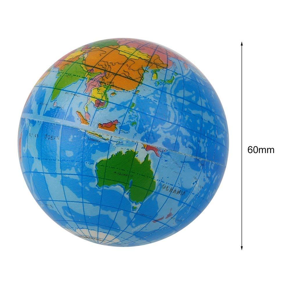 Nihlsen Mapa del Mundo Azul Espuma Tierra Globo Alivio del ...
