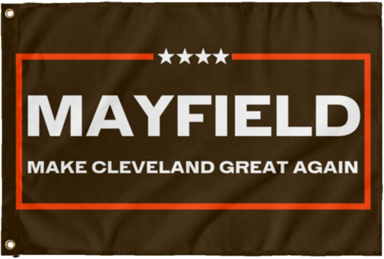 Printed in USA LiberTee Mayfield Browns Football Flag 3x5 Make The Browns Great Again Single Sided Polyester Brown Fan Flag