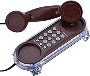 Flash Antique Telephones Fashion Hanging Phone Caller Wall Mounted Retro Telephone Support Ringtones Adjustment, Tone Dialing, Mute, Redial, Pause