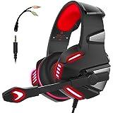 Audífonos Gamer con Micrófono para PS4 Xbox One PC, Diadema Auriculares Alámbrico Estéreo para Juegos Cancelación de…