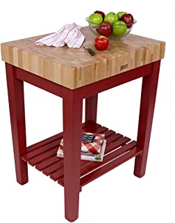 product image for John Boos American Heritage Natural End Grain Maple Chef's Block with Slatted Shelf