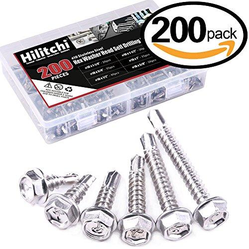 hex washer head screws - 6
