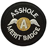 #5: SpaceAuto Asshole Merit Badge Military Tactical Morale Funny Patch - 2.48