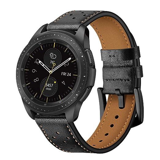 Bracelet de Montre en Cuir véritable 20 mm pour Samsung Galaxy Watch 42 mm/Bracelet