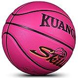 Kuangmi Multi-color Basketball for Junior Kids Child Boys Girls Size 5 27.5' (Pink)