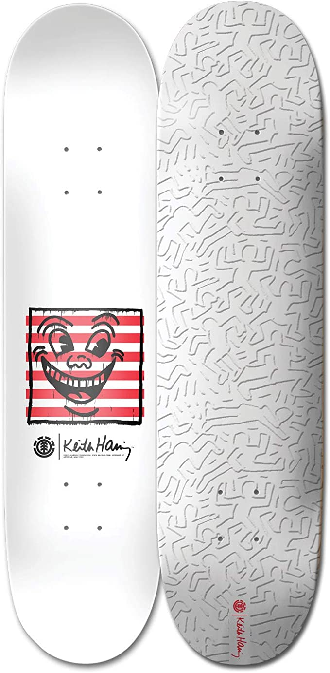 Element Keith Haring 1984 Skateboard Deck,Assorted,30 L X 9.5 W