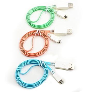 OKCSC con luz LED Micro Cable USB cargador de datos