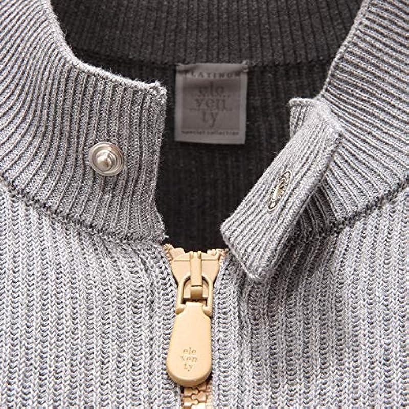 ELEVENTY 5406AD Cardigan Uomo Grey Cotton Fullzip Sweater Man [XS]: Odzież