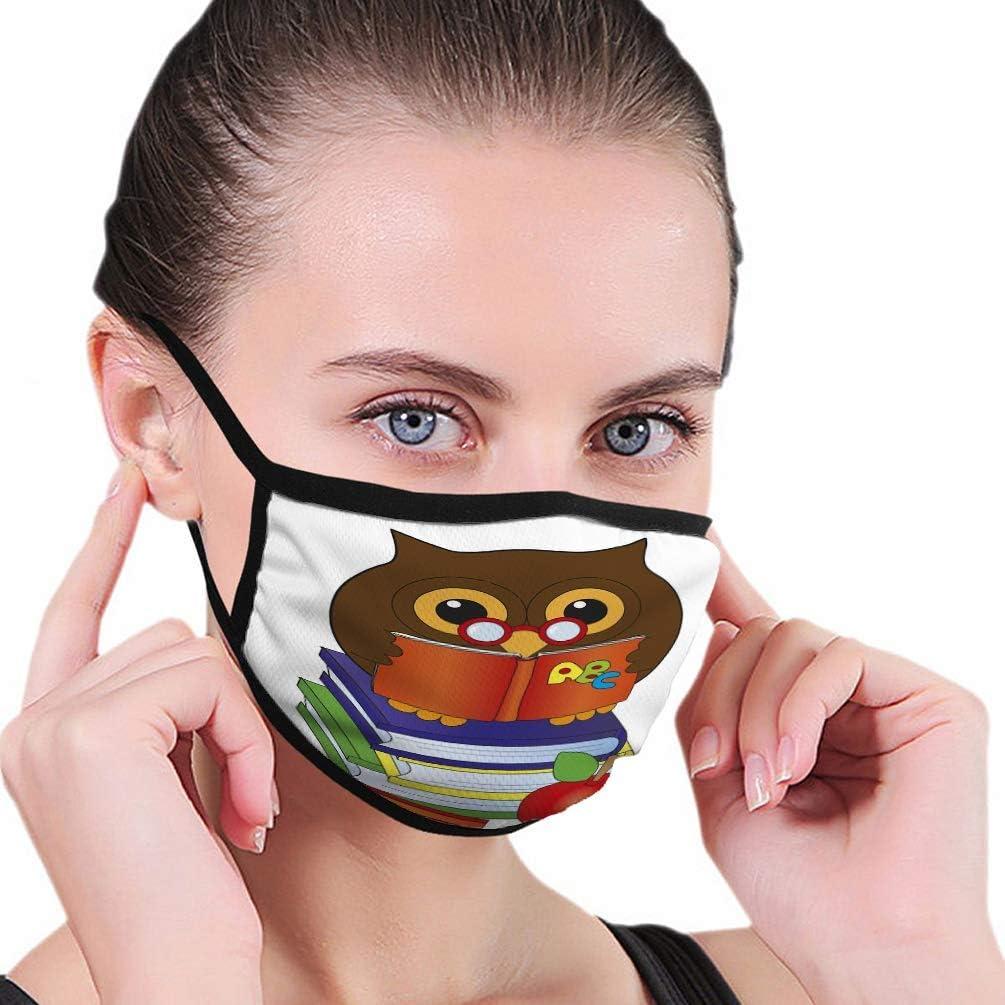 Máscara bucal - Máscara Reutilizable Búho Libros Divertido Apple Lápiz Psicodélico