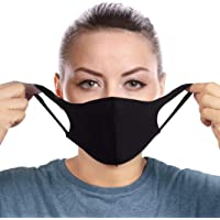 Fashion Face Scarf Masks Double Layer Black for Men and Women 100% Cotton Fabric Washable Reusable Fashion Face Mask…