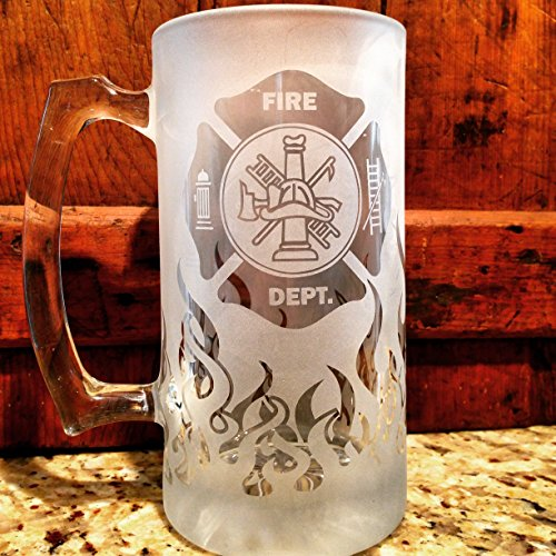 Fire Department, Beer Stein, Fireman Gift, Fireman gifts, Firefighter gift, Firefighter gifts, Flames, Beer stein, Beer mug, Firefighter retirement, Firefighter graduation, Fireman retirement gift