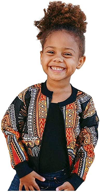 12-18 Months, Yellow Kid Baby Girls Boy Dashiki Print Jacket Fashion Long Sleeve Windproof Zip Hooded