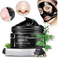 Avskalad mask, Pormask Borttagning Mask, Ansiktsmask med Aktivt kol, Renar svart Ansiktsmask For Nose, Cheeks and Chin…