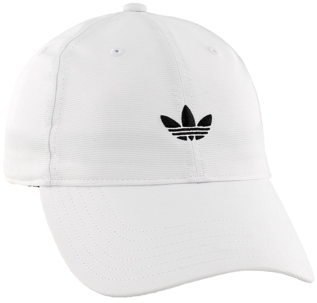 adidas Men's Originals Relaxed Strapback Cap, White, One Size by adidas Originals (Image #1)