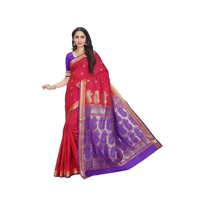 Craftsvilla Silk Saree Mcraf57483217690 Red Free Size Amazon In