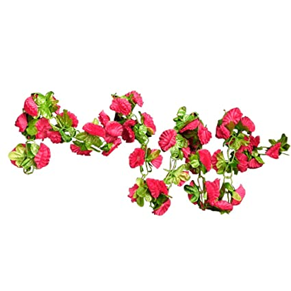 Amazon artificial garland silk flower vine for home wedding artificial garland silk flower vine for home wedding garden decoration shocking pink by generic mightylinksfo