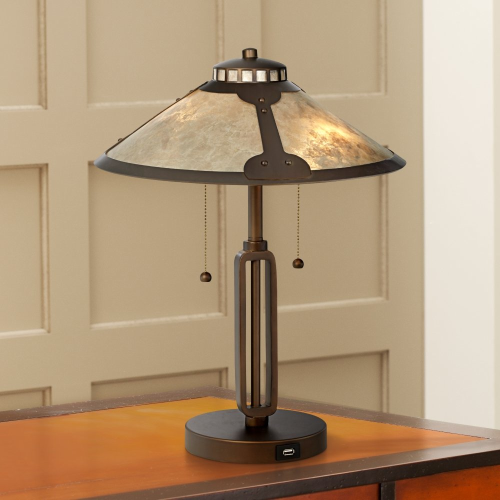 Samuel mica shade desk lamp with usb port amazon geotapseo Gallery