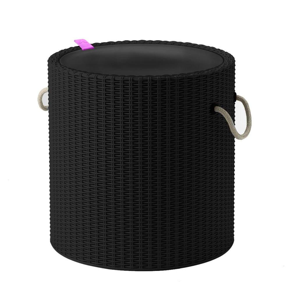 Keter Knit Cool Stool Outdoor 39L Cool Bar Ice Cooler Garden Furniture - Beige 17200045