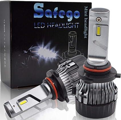 Safego Bombilla H4 LED Coche Garant/ía de 1 a/ños 2x 72W 8000LM H4 Hi//Lo LED Faros Delanteros Bombillas L/ámpara Luz 6500K Blanca 12V-24V Faros Reemplazo de Hal/ógena y Kit Xen/ón H4
