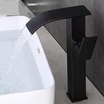 Waschtischarmatur Schwarz jruia antik hoch wasserfall waschtischarmatur matt schwarz bad