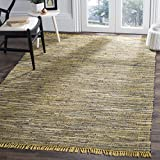 Kitchen Rugs Cotton Safavieh Rag Rug Collection RAR121H Hand Woven Yellow and Multi Cotton Area Rug (3' x 5')