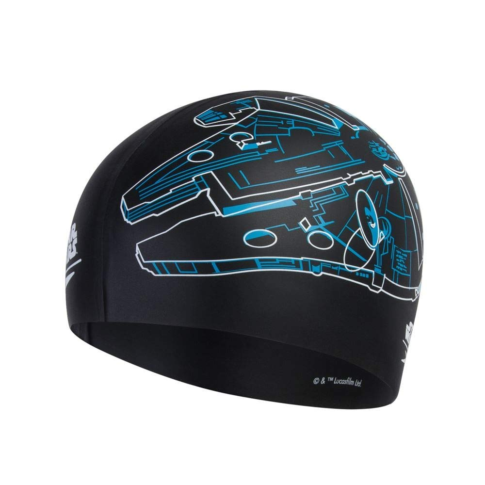 One Size Speedo Unisexs Star Wars Print Cap Falcon Swimming Black//White//Blue