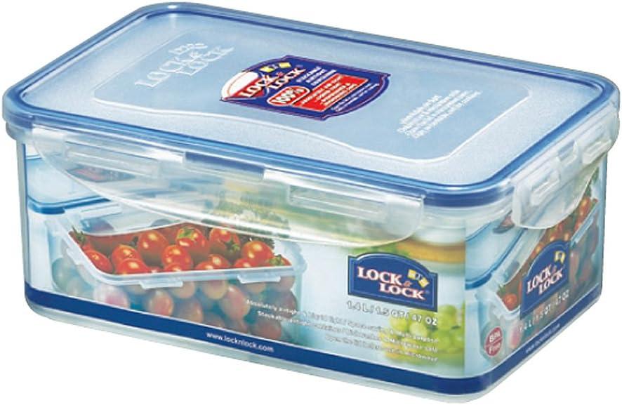 LOCK & LOCK Rectangular Water Tight Food Container, Tall (1.4 Liter)