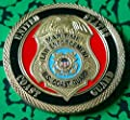US Coast Guard Police Law Enforcement Colorized Challenge Art Coin by HMC