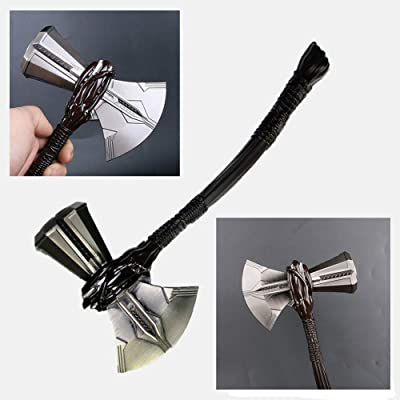 Gmasking Mythology Metal Stormbreaker Axe Cosplay Hammer Replica Small Props: Toys & Games