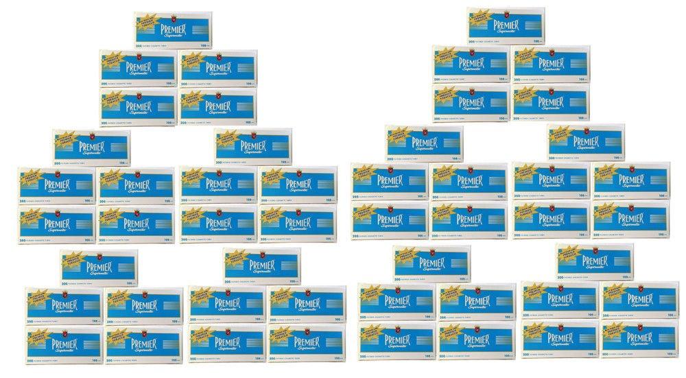 Premier Supermatic 100's Blue Light Cigarette Filter Tubes 1 Box of 200 (50)