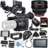 Canon EOS C200 EF Cinema Camera #2215C002 (International Model) + Canon CN-E 24mm T1.5 L F Cinema Prime Lens (EF Mount) + 256GB SDXC Card + Deluxe Cleaning Kit + MicroFiber Cloth Bundle