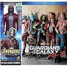 Star-Lord Movie Figure Guardians of the Galaxy Vol. 2 Super Hero Marvel Bundle DVD Cinematic Universe Titan Adventure Collectible