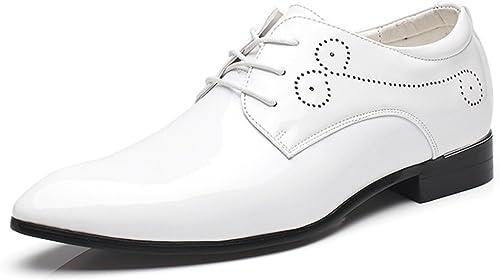 À Brillant Verni Lacets Chaussures Dadawen Ville Homme De WDIE29H