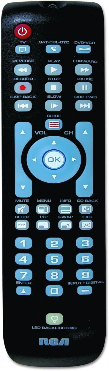 RCA Three-Device Universal Remote, Black