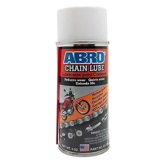 Abro Dry Chain Lube 180ml High Performance Spray Lubricate