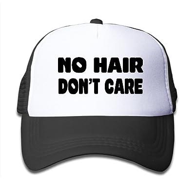 Kids No Hair Don't Care Mesh Baseball Caps Black