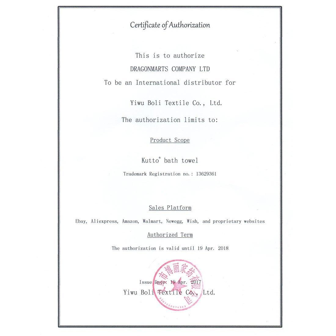 eDealMax KUTTO autorisé Cotonnade Elephant Imprimer Salle de Bains Serviette de bain 140cm x 70cm