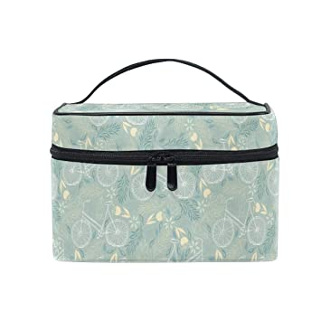 cfbeb5370a35 Amazon.com : Makeup Bag Fresh Flower Cycle Travel Cosmetic Bags ...
