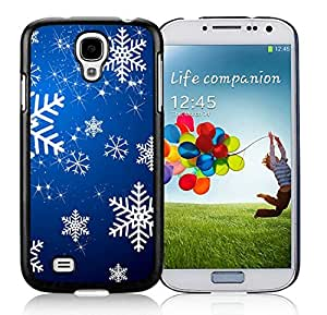 Customized Portfolio Samsung S4 TPU Protective Skin Cover Christmas Snowflake Black Samsung Galaxy S4 i9500 Case 13