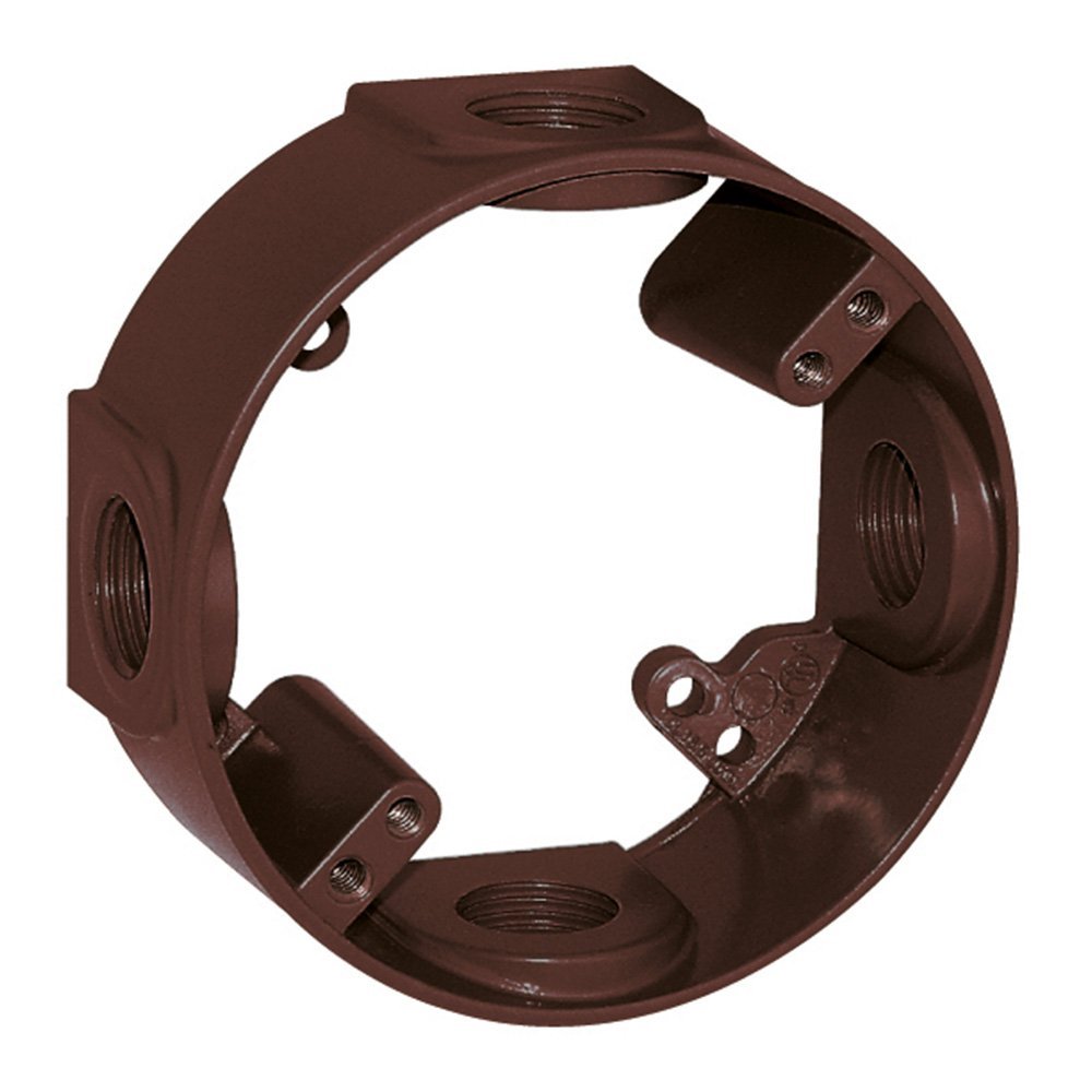 Sigma Electric 14236BR 1/2-Inch 4 Hole Round Extension Ring, Bronze