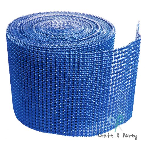 (Diamond Mesh Wrap Roll Rhinestone Crystal Ribbon 4.5