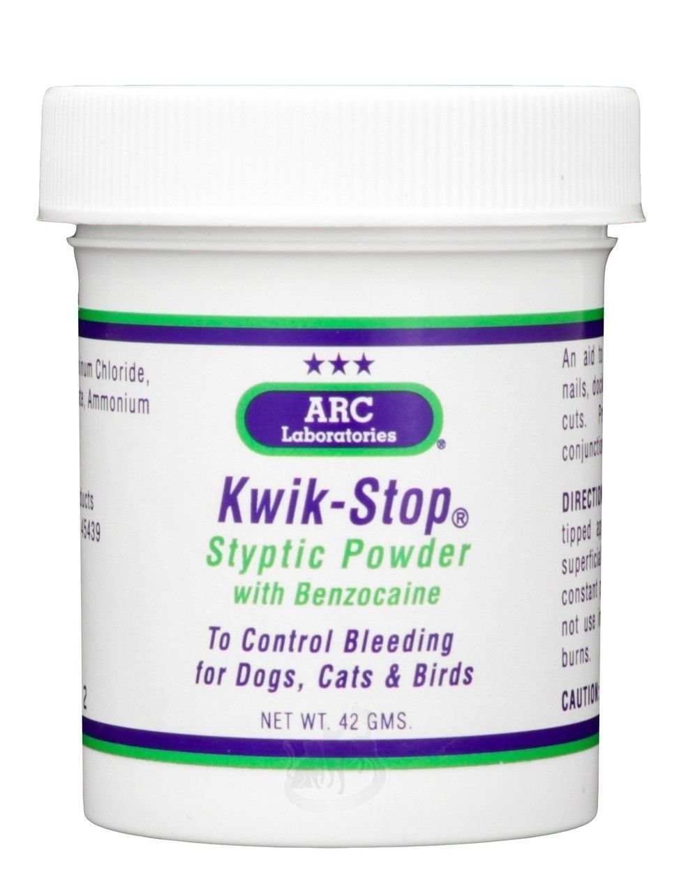 Gimborn Kwik Stop Styptic Powder (42 g) Benzocaine Bleed Stop for Pets by Gimborn